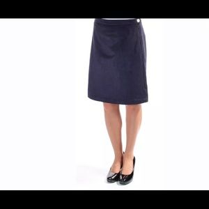 Tommy Hilfiger Navy faux suede A line skirt